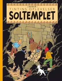 Tintin: Soltemplet - retroudgave forside