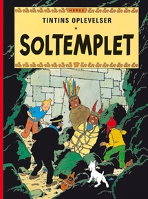 Tintin: Soltemplet - softcover forside